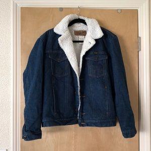 Vintage Wrangler Sherpa Lined Jean Jacket